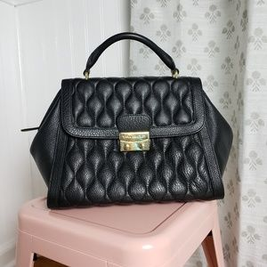 Vera Bradley Stella Black Quilted Leather Purse